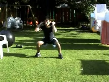 Dumbbell Wide Squat