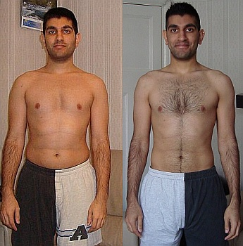 Fat loss before and after
