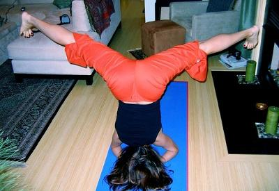 headstand with wide legs