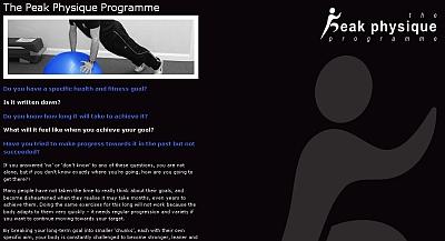 peak physique programme