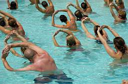 Water aerobics routines